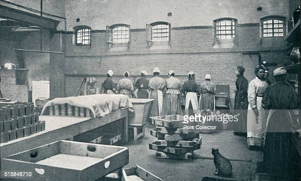 In the kitchen of Holloway Prison London circa 1901 Holloway Prison opened as a mixedsex prison in 1852 but became female only in 1903 From Living...