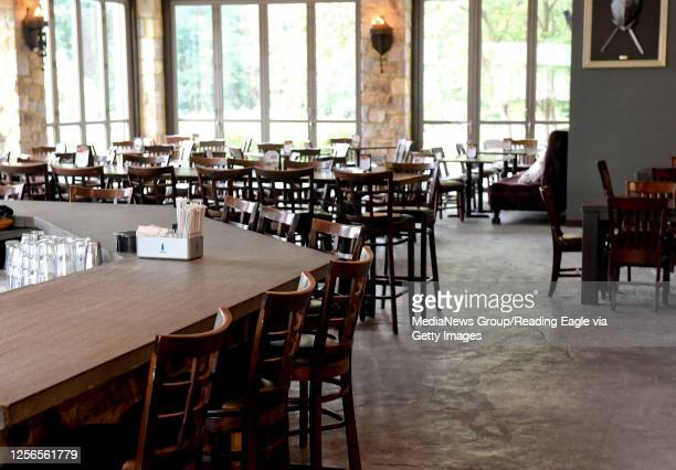 In The Knights Pub at Stokesay Castle in Lower Alsace, PA Thursday afternoon July 16, 2020 where they are adjusting after the announcement the day...