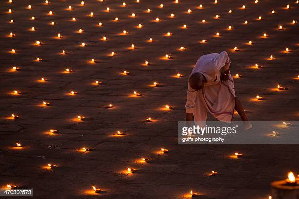in the land of lights - diwali celebration stock photos and pictures