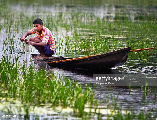 in the land of rivers and boats! - fishing in bangladesh stock photos and pictures