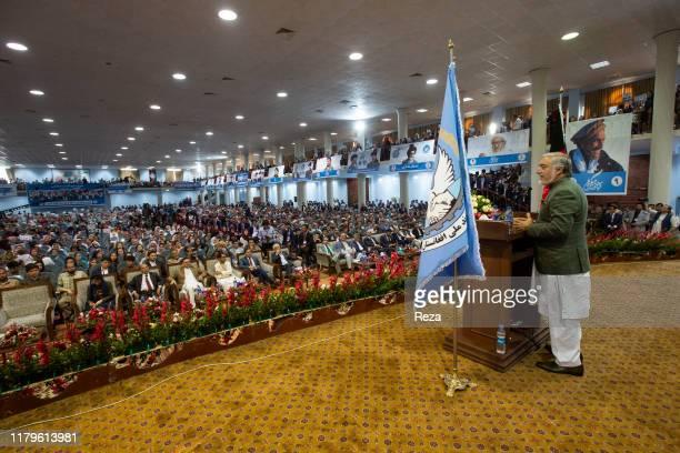 In the large meeting room originally dedicated to the loya jirga, Dr Abdulla speaks.Dr Abdullah Abdullah is an Afghan political leader, Chief...
