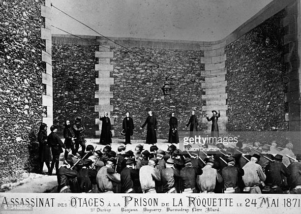 In the last days of the Paris Commune Archbishop of Paris Georges Darboy President of the Supreme Justice Court Bonjean and priests Allard Clerc...