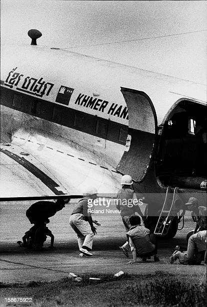 In the last weeks of the Cambodia civil war using the capital city airport was becoming more and more perilous as the Khmer Rouge were shelling it...