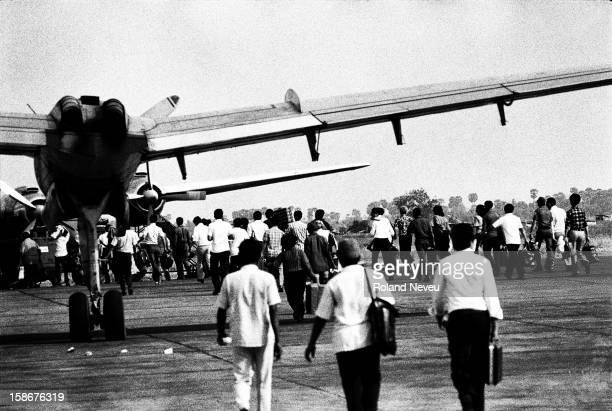 In the last weeks of the Cambodia civil war, using the capital city airport was becoming more and more perilous as the Khmer Rouge were shelling it...