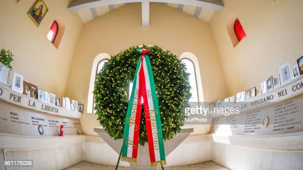 In the Liberation Day, the President Sergio Mattarella celebrates the recurrence in the shrine of partisans Maiella Brigade. In the picture a view of...