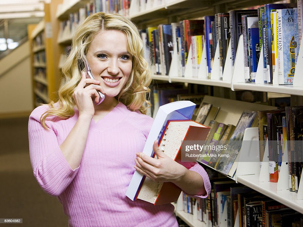 in the library : Stock Photo