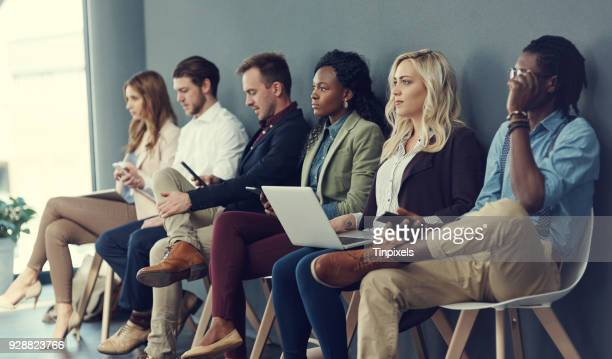 in the line for the interview - candidate stock pictures, royalty-free photos & images