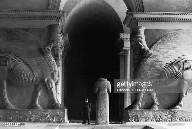 In the Louvre in Paris France Winged bull Khorsabad palace of King Sargon II