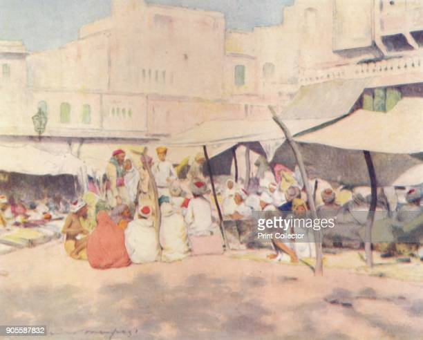 'In the Marketplace Jeypore' 1905 From India by Mortimer Menpes Text by Flora A Steel [Adam Charles Black London 1905] Artist Mortimer Luddington...