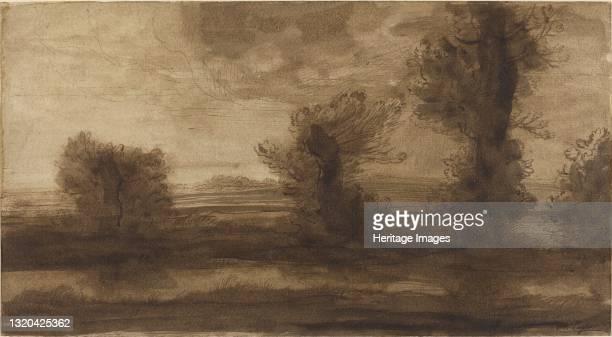 In the Marshes. Artist Alphonse Legros.