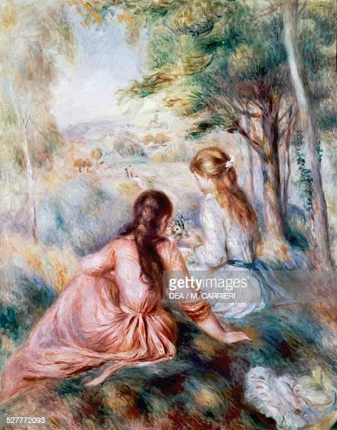 In the meadow by PierreAuguste Renoir France 19th century Boston Museum Of Fine Arts