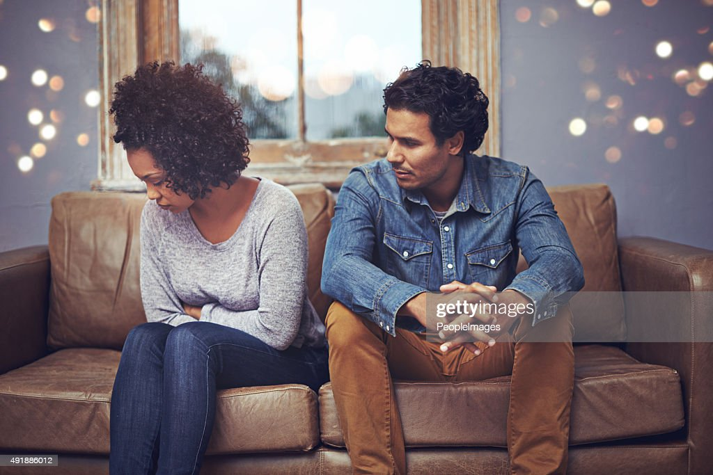 In the middle of an argument... : Stock Photo
