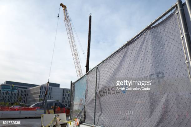 In the Mission Bay neighborhood of San Francisco, California, construction has begun on Chase Center, the new stadium for the Golden State Warriors...
