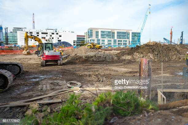 In the Mission Bay neighborhood of San Francisco California construction has begun on Chase Center the new stadium for the Golden State Warriors...