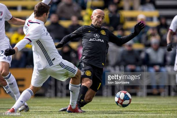 in the MLS regular season game between the Columbus Crew SC and the FC Dallas on March 16 2019 at Mapfre Stadium in Columbus OH
