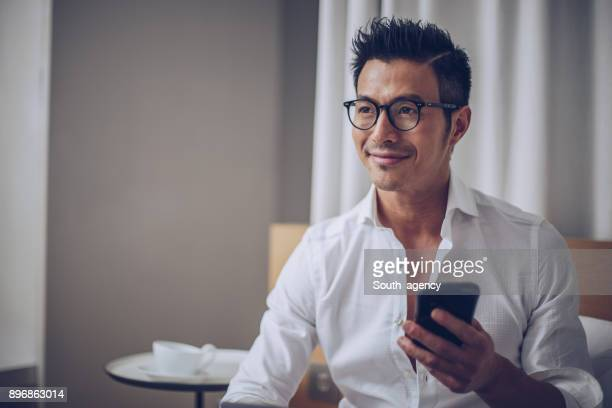 in the morning - handsome chinese men stock pictures, royalty-free photos & images