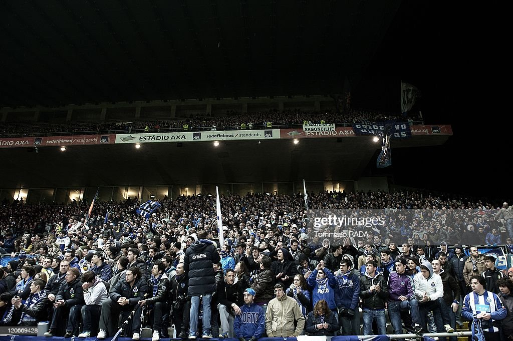 In The Mouth Of The Dragon - Fc Porto Soccer Team Ultras In Braga, Portugal On February 13, 2011 - : News Photo