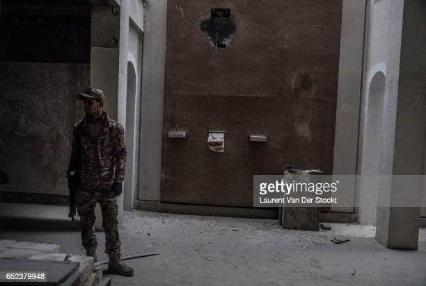 In the museum of Mosul, taken back by the Iraqi federal police's emergency response division , where IS destroyed the major works of the Iraqi...