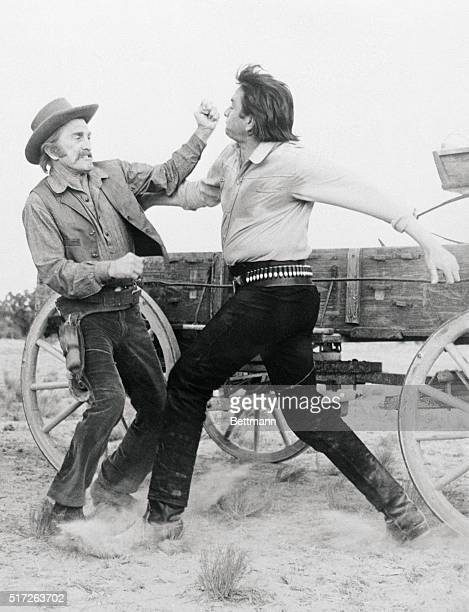 In the new Paramount picture entitled A Gunfight Johnny Cash lashes out at Kirk Douglas over the suggestion that the two engage in a gunfight The two...