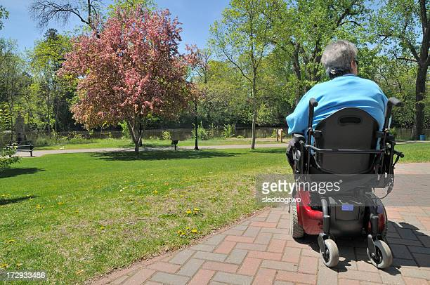 in the park - multiple sclerosis stock photos and pictures