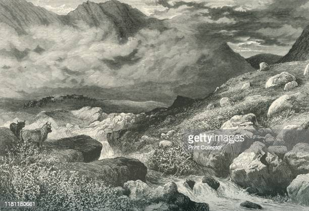 In the Pass of Glencoe', circa 1870. Glen Coe in the Highlands of Scotland was scene of the Massacre of Glencoe in 1692. The Glen is named after the...