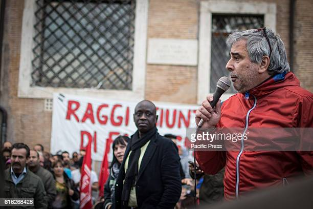 In the photo Paolo Di Vetta Hundreds of 'Housing Rights' activists took to the street in Rome to protest against forced housing evictions to ask for...