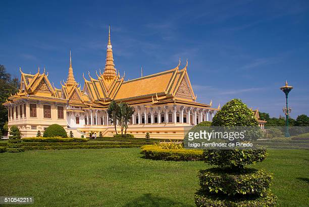 In the photograph the Royal Palace in Nom Pen, Cambodia. It is a set of buildings where the residence of the Kings of Cambodia since its construction...