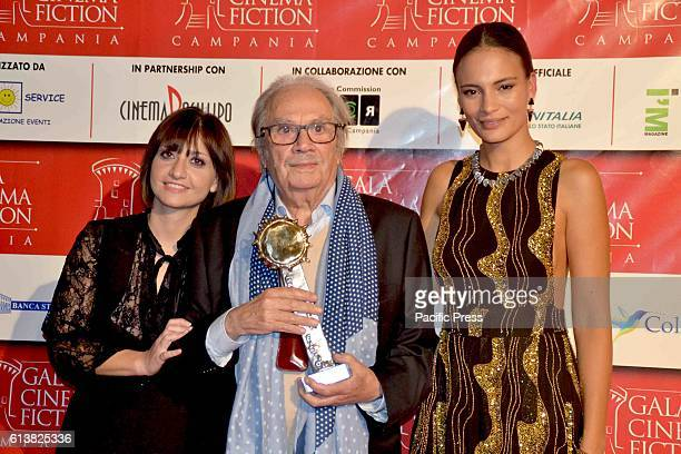 In the picture: Antonio Casagrande and Shalana Santana during the eighth edition of the Gala of Cinema and Fiction of Campania, an event created and...