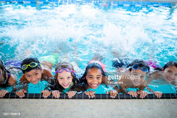 in the pool - swimming stock pictures, royalty-free photos & images
