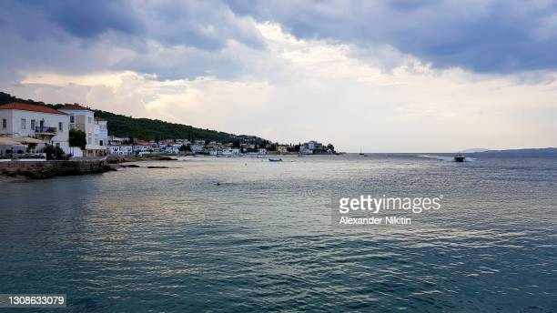 in the port of spetses island - spetses stock pictures, royalty-free photos & images