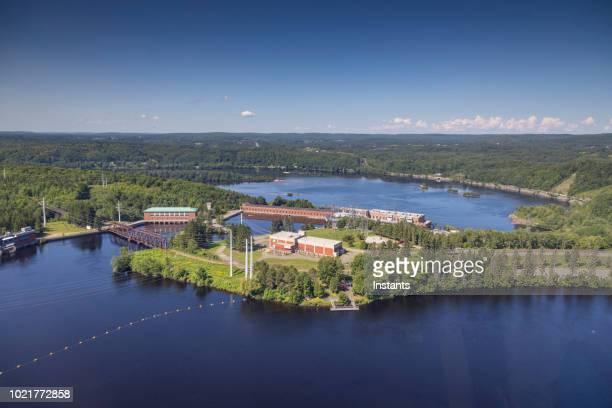 ケベック州、この街の産業時代の象徴であるモントリオールの水力発電の植物の 1 つ。 - シャウィニガン ストックフォトと画像