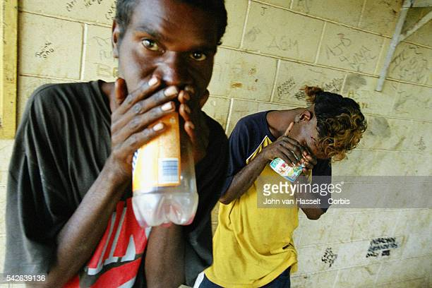 In the remote Aboriginal settlement of the Tanami Desert northwest of Alice Springs young Aboriginal kids sniff petrol out of boredom and distress...