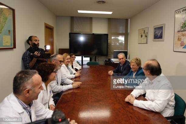 In the right part of the table the Territorial Director of Health Edelmiro Sebastian the counsellor of Health Ana Barcelo and hospital manager Miguel...