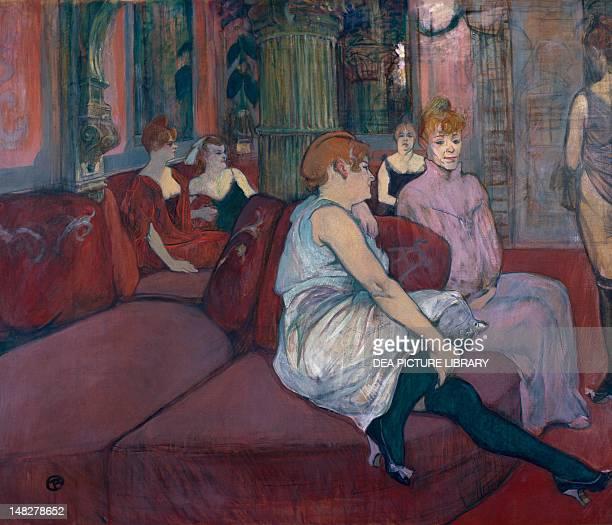 In the saloon of the Rue des Moulins by Henri de Toulouse Lautrec oil on canvas 111x132 cm Albi Musée ToulouseLautrec