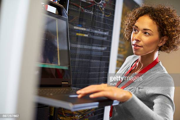 in the server room
