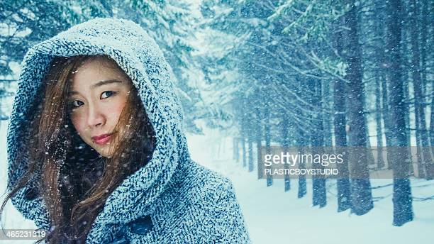 In the snow