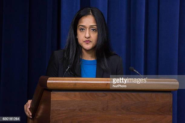In the South Court Auditorium of the Eisenhower Executive Office Building of the White House in Washington DC, on 16 December 2016, Vanita Gupta,...