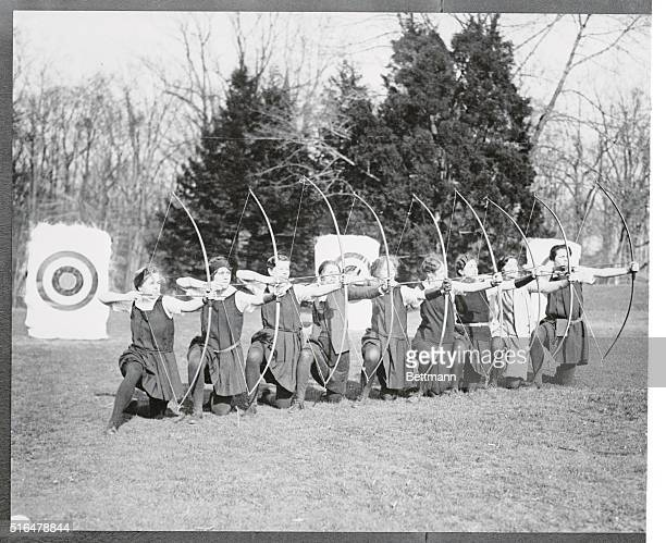 In the Spring it seems as if young maid's fancy lightly turns to thoughts of archery for dam Cupid is generally associated with a bow and arrow Of...