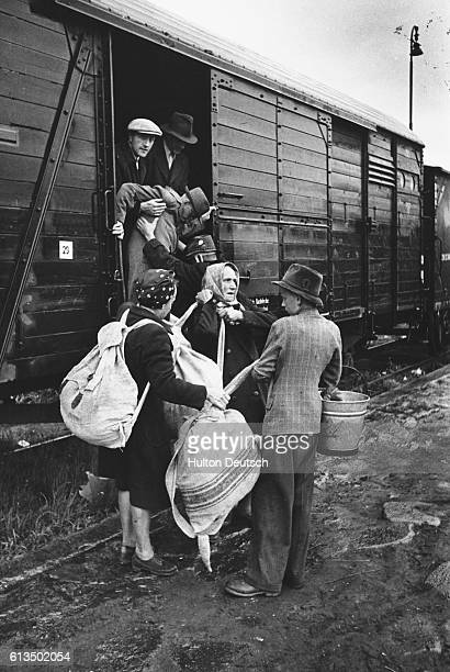 In the spring of 1945 prior to the collapse of German power there were nearly 35 million Germans in Czech territory 600000 of them fled after the...