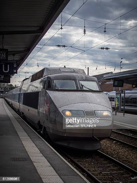 TGV in the station