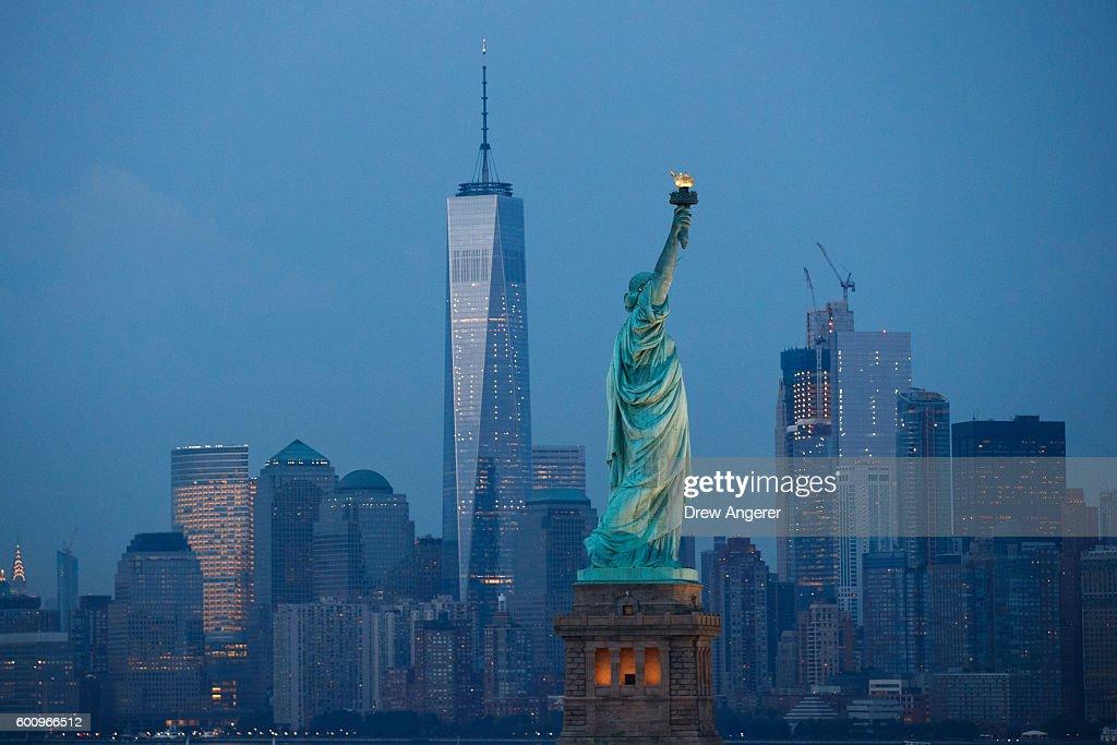 New York City Prepares To Mark The 15th Anniversary Of 9/11 Attacks : News Photo