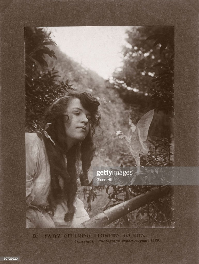 In the Summer of 1917, 15-year-old Elsie 'Iris' Wright (1901-1988) and her 10-year-old cousin Frances 'Alice' Griffiths (1907-1986) claimed to have photographed fairies in a beck behind Elsie's home in Cottingley, near Bradford. Although Elsie later admitted the photographs were fakes, Frances was more reticent. To her dying day she claimed that the girls had seen fairies, and that at least one of the photographs was genuine.