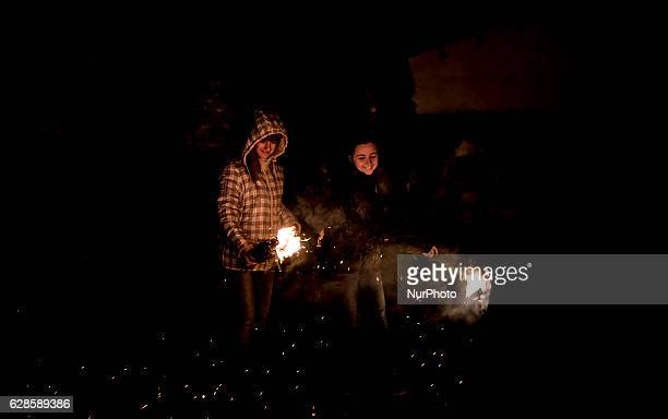 In the town of Samaniego Alava Manas are celebrated every December 7th Lavender torches are lit and the whole village is crossed December 7 2016