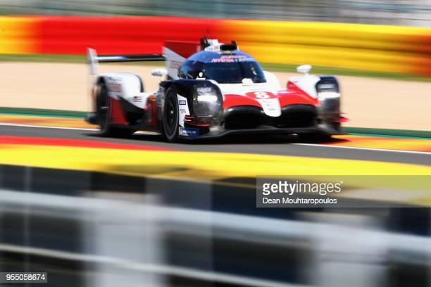 RACING in the Toyota TS050 Hybrid driven by Sebastien Buemi of Switzerland Kazuki Nakajima of Japan Fernando Alonso of Spain competes in the WEC 6...