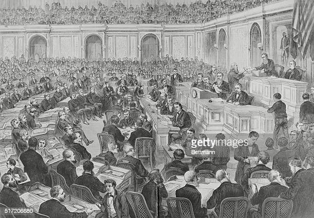 In the US Presidential election of 1876 the electoral counts from four states were in dispute creating a stalemate that took weeks to resolve and...