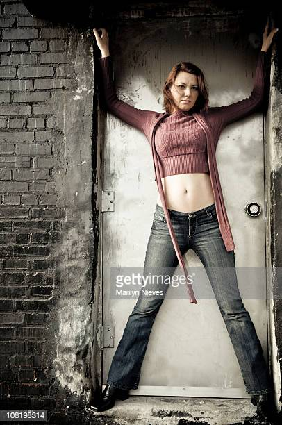 in the way - female navel stock photos and pictures