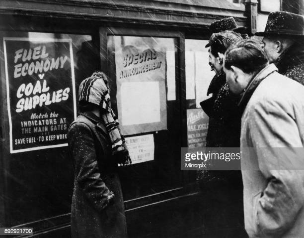 In the winter of 1946 1947 the UK experienced several cold spells Workers at the Austin Factory in Birmingham reading notices announcing the close...