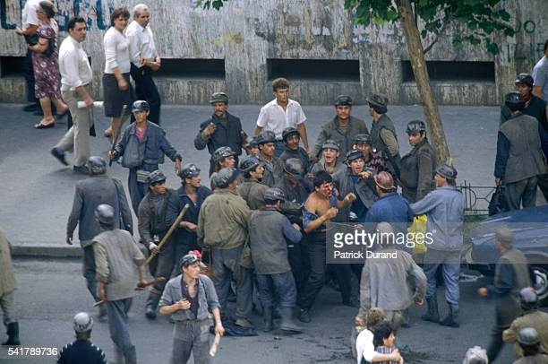 In the year following the Romanian revolution antiCommunist protests are broken up by miners from the Jiu Valley called in by President Iliescu