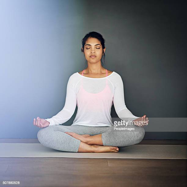 in the zen zone - only young women stock pictures, royalty-free photos & images