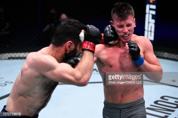 In their featherweight bout during week seven of Dana White's Contender Series season four at UFC APEX on September 15, 2020 in Las Vegas, Nevada.